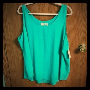 Time and Tru tank. NWT.  Green.  XXXL
